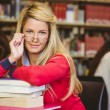 Student with reading glasses — Stock Photo #65285875