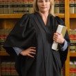 Lawyer holding book in the law library — Stock Photo #65287993
