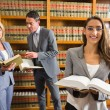 Lawyers in the law library — Stock Photo #65288325