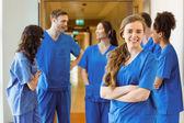 Medical student smiling at the camera — Stock Photo
