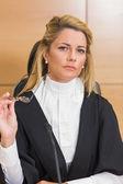 Stern judge looking away  — Stock Photo