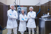 Biologist team standing smiling with arms crossed — Stock Photo