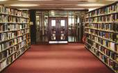 Entrance of the college library — Stock Photo
