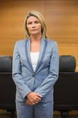 Stern lawyer looking at camera — Stock Photo
