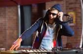 Cool dj güverte iplik — Stok fotoğraf