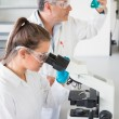 Team of scientists at work — Stock Photo #65291829