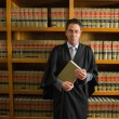 Lawyer holding book in the law library — Stock Photo #65292321