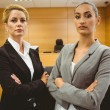 Two serious lawyers standing with arms crossed — Stock Photo #65292419
