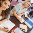 Smiling matures females students — Stock Photo #65293325