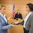 Witness taking an oath — Stock Photo #65293603