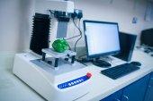 Machine analysing pepper with computer — Stock Photo