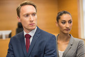Stern lawyers looking ahead — Stock Photo