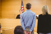 Criminal waiting for courts ruling — Stock Photo