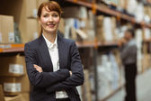 Female manager with arms crossed — Stock Photo