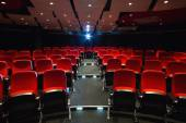 Empty rows of red seats — Stock Photo