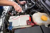 Mechanic working under the hood  — Stock Photo