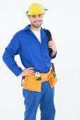 Worker standing with hand on hip — Stock Photo