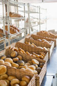 Baskets of freshly baked bread — Stock Photo