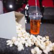 Falling box of pop corn and drink  — Stock Photo #65557941