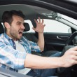 Young man experiencing road rage — Stock Photo #65558351