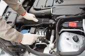 Man checking the engine of his car — Stock Photo