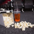Falling box of pop corn and drink — Stock Photo #65561253