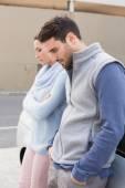Młoda para po kłótni — Zdjęcie stockowe