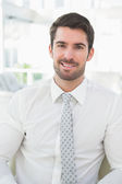 Smiling businessman well dressed — Stock Photo