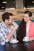 Cute couple on a date — Stock Photo