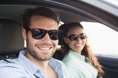 Young couple on a road trip — Photo