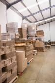 Many stack of cardboard boxes — ストック写真