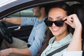 Young couple on a road trip — Stock Photo