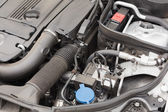 Overhead of engine in bonnet — Stock Photo