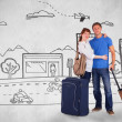 Happy couple going on holiday — Stock Photo #68909193