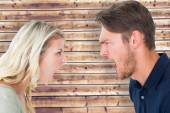 Angry couple shouting during argument — Stock Photo