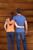 Couple with backs to camera — Stockfoto
