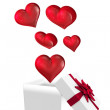 Hearts flying from box — Stock Photo #68911997