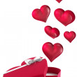 Hearts flying from box — Stock Photo #68912587