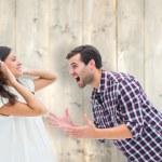 Brunette being overpowered by boyfriend — Stock Photo #68913663