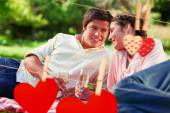 Man looks at his friend during a picnic — Photo