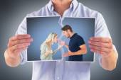 Angry couple facing off during argument — Stock Photo