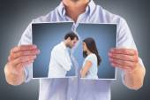 Angry couple facing off after argument — Stock Photo
