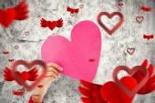 Сердце любовь сердца шаблоном — Стоковое фото