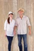 Couple both wearing hats — Stock Photo