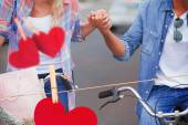 Couple going for a bike ride — Stock Photo