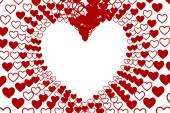 Valentines hearts design background — Stock Photo