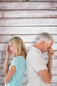 Unhappy couple not speaking to each other — Stock Photo
