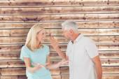 Unhappy couple having an argument — Stock Photo