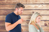 Young couple having an argument — Stock Photo