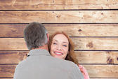 Casual couple hugging each other — Stock Photo